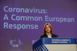 "News conference on ""Coronavirus: A Common European Response"" in Brussels"