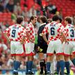 Germany v Croatia Euro 96 Quarter-final Pic: Lee Beskeen/Action Images Croatia'sIgor Stimac is sent off by referee Leif Sundell