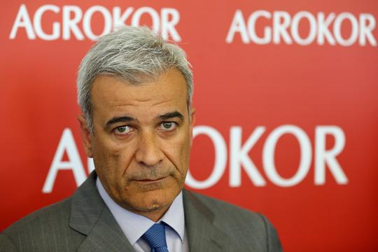 Ante Ramljak, the restructuring expert appointed by the Croatian government to lead the process is seen at Agrokor's headquarters in Zagreb, Croatia, April 21, 2017. Picture taken April 21, 2017. REUTERS/Antonio Bronic