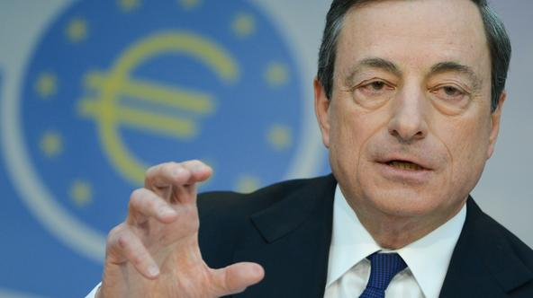 Mario Draghi speaks at the ECB press conference in Frankfurt Main, Germany, 03 April 2014. The base interest rate remains at a record low of 0.25 per cent in the EU. Photo: Arne Dedert/dpa/DPA/PIXSELL