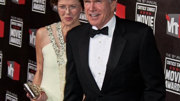 'Actors Warren Beatty and his wife Annette Bening arrive at the 16th Annual Critic\'s Choice Movie Awards presented by the Broadcast Film Critics Association at The Hollywood Palladium in Los Angeles,