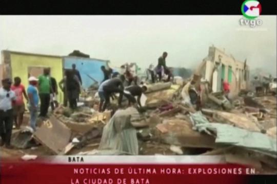 Large explosions hit Equatorial Guinea city of Bata, says local TV