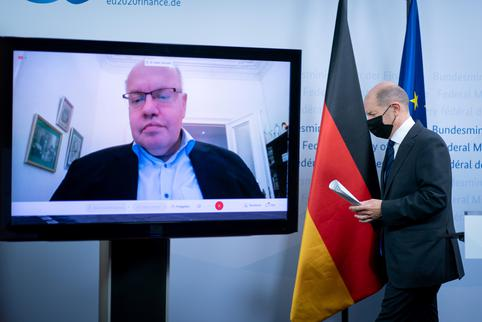 Virtual news conference of German Economic and Finance Ministers in Berlin