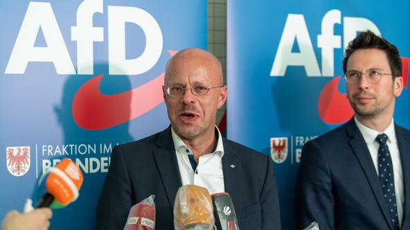 Faction meeting of the AfD Brandenburg