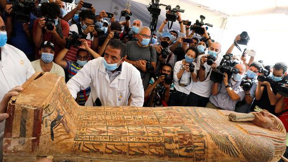 Newly discovered burial site near Egypt's Saqqara necropolis in Giza