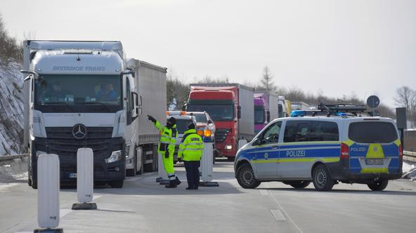 The German-Czech border crossing of Breitenau is closed due to COVID-19 precautions