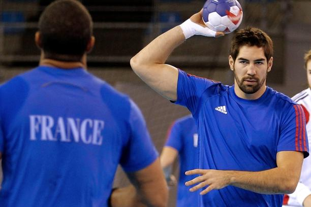 'France's handball team player Nikola Karabatic attends a training session in Toulon, southeastern France, January 4, 2013. France will participate in the World Men's Handball Championship, which is