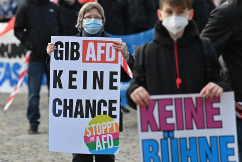 Demonstration against AfD election rally