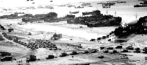 Omaha Beach secured after D-Day