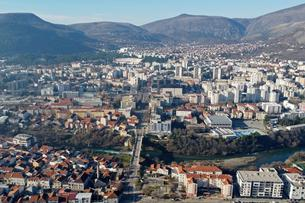 Aerial view of Mostar