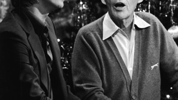 'British rock singer and actor David Bowie performs with American pop singer Bing Crosby for the TV special, \'Bing Crosby\'s Merrie Olde Christmas,\' London, England. (Photo by CBS Photo Archive/Cour