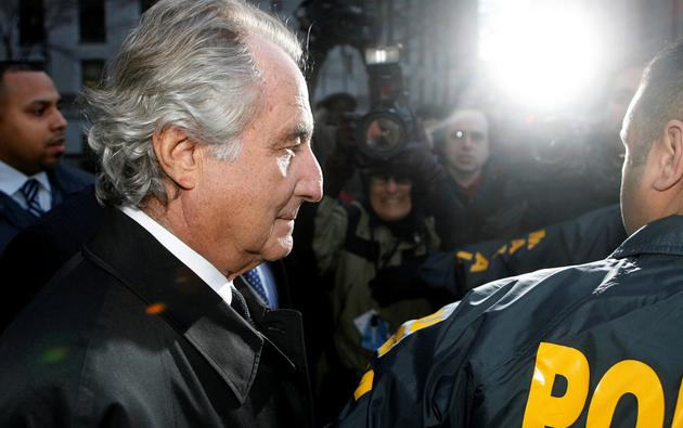 FILE PHOTO: Bernard Madoff  departs US Federal Court after a hearing in New York