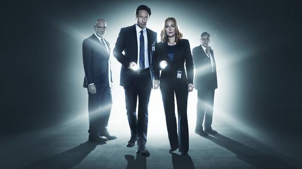 THE X-FILES: L-R: Mitch Pileggi, David Duchovny, Gillian Anderson and William B. Davis. The next mind-bending chapter of THE X-FILES debuts with a special two-night event beginning Sunday, Jan. 24 (10:00-11:00 PM ET/7:00-8:00 PM PT), following the NFC CHA