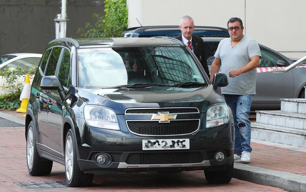 Paul Pogbs's agent Mino Raiola Sighting - Manchester