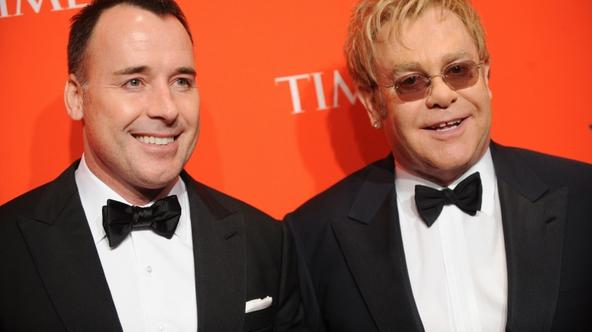 'Elton John and David Furnish at the Time 100 Most Influential People in The World Issue Gala Party at The Lincoln Centre in New York, USA. Photo: Press Association/Pixsell'