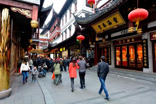 Yuyuan Tourist Mart in Shanghai, China