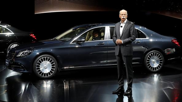 Daimler CEO Dieter Zetsche stands next to a new Mercedes Benz S680 ahead of the Shanghai Autoshow in Shanghai, China April 18, 2017. REUTERS/Aly Song