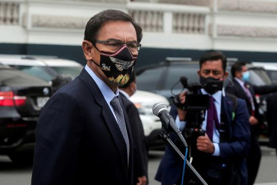 FILE PHOTO: Peru's President Martin Vizcarra faces impeachment trial