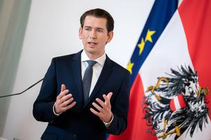 Austrian Chancellor Sebastian Kurz attends a news conference in Vienna