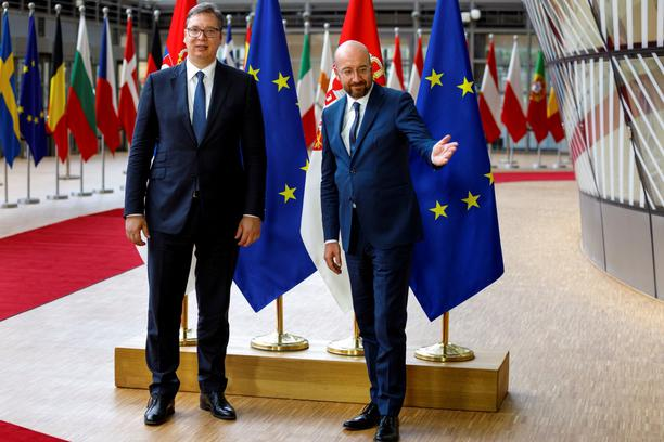 European Council President Charles Michel meets with Serbian President Aleksandar Vucic in Brussels
