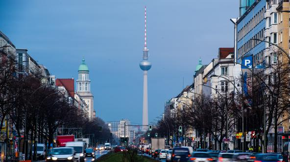 Rush hour in the morning in Berlin