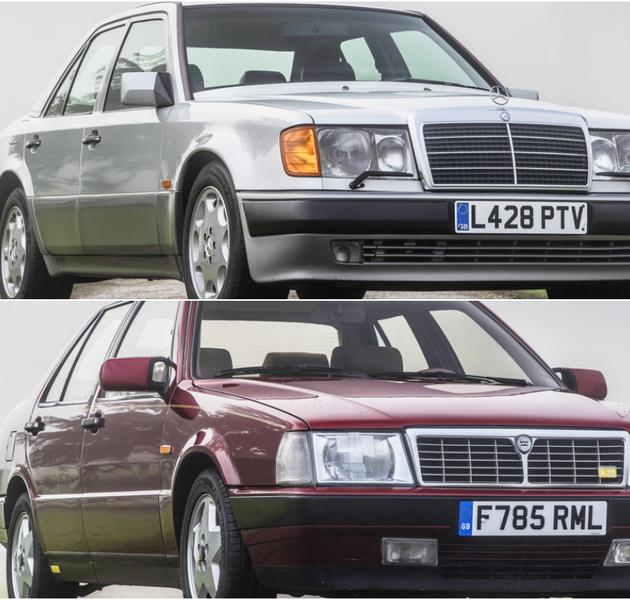 Mercedes-Benz 500E i Lancia Thema 8.32