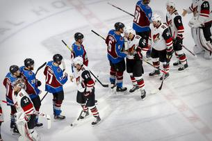 NHL: Stanley Cup Playoffs-Arizona Coyotes at Colorado Avalanche