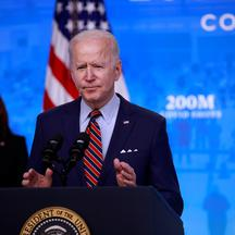 U.S. President Biden speaks about his administration's coronavirus response at the White House in Washington