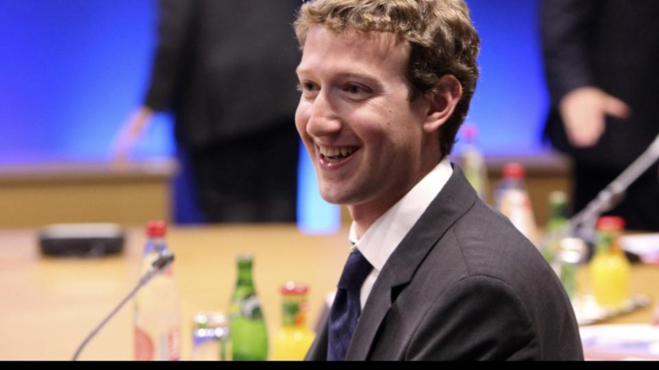 'Mark Zuckerberg, founder of Facebook Inc during the internet session of the G8 summit in Deauville, France. Photo: Press Association/Pixsell'