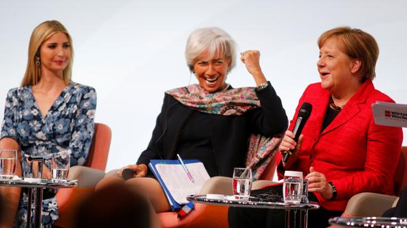Ivanka Trump, Christine Lagarde i Angela Merkel
