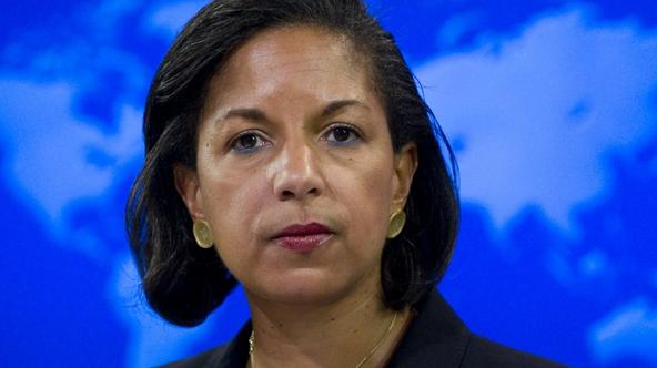 'US Ambassador to the United Nations Susan Rice speaks about the independence of South Sudan during a briefing at the US State Department in Washington, DC, July 7, 2011. Rice will lead the US delegat