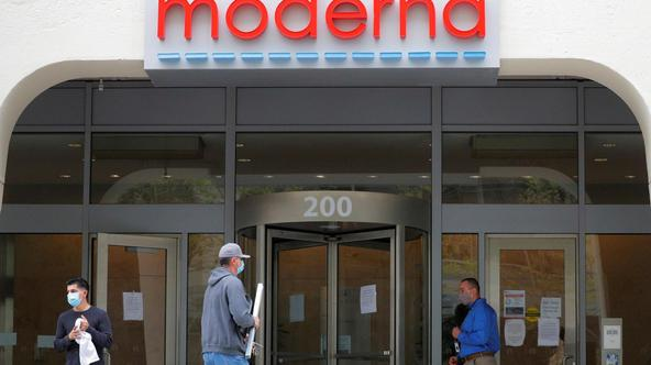 FILE PHOTO: Moderna Therapeutics seen during COVID-19 in Massachusetts