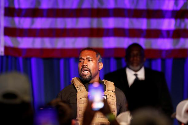FILE PHOTO: Rapper Kanye West holds his first rally in support of his presidential bid in North Charleston