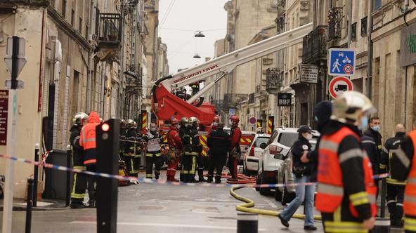 Violent explosion in a building - Bordeaux