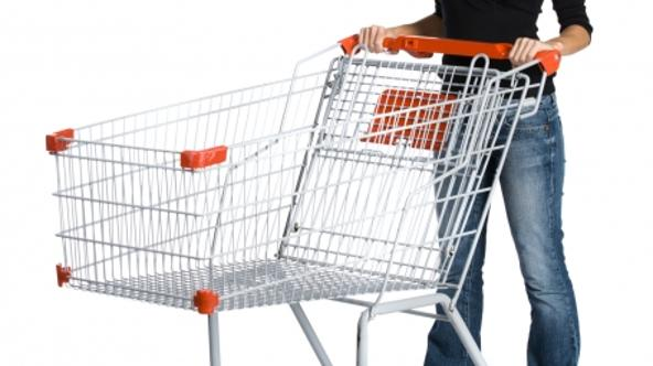 'Woman with shopping cart'