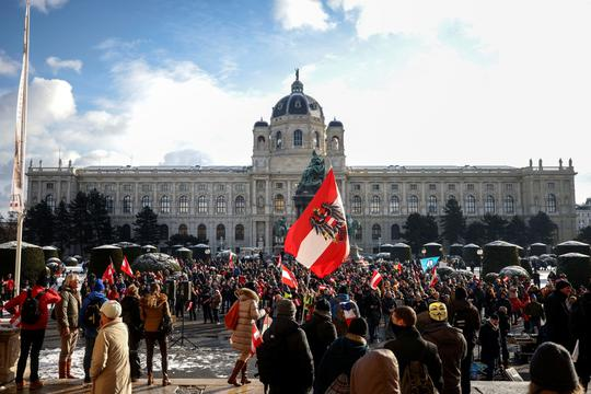Demonstration against the COVID-19 measures and their economic consequences, in Vienna