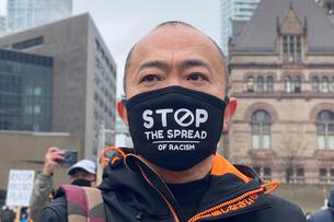 Protest against anti-Asian hate crimes in Toronto