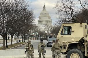 Military Personnel are stationed throughout D.C.