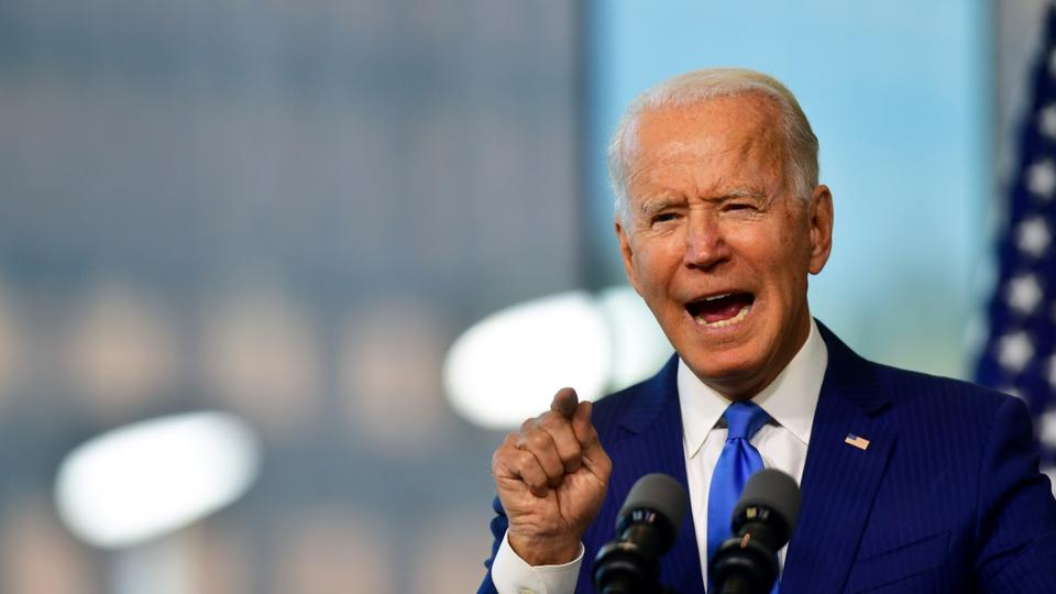 Democratic U.S. presidential nominee Biden delivers remarks in Philadelphia, Pennsylvania